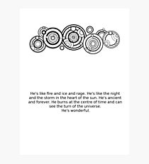 Name of the Doctor and quote Photographic Print