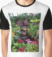 BUTCHART GARDENS WATERFALL Graphic T-Shirt