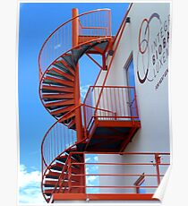 The orange spiral stair 1 Poster