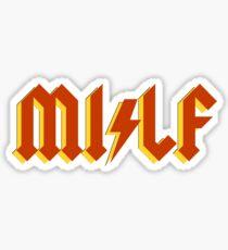 Metal Mom MILF Sticker