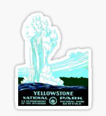 Vintage Yellowstone National Park Geyser WPA Sticker