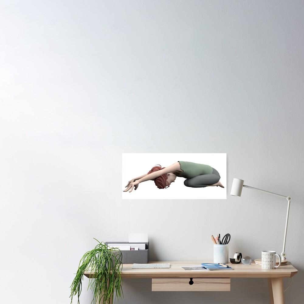 Poster «Yoga posture de l'enfant»