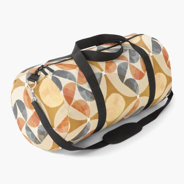 Rust mid century pattern Duffle Bag