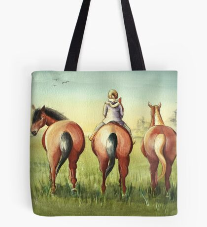 Pony Tails Tote Bag