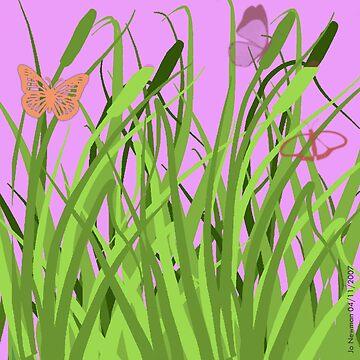 Butterflies in a Meadow by quartzmonzonite