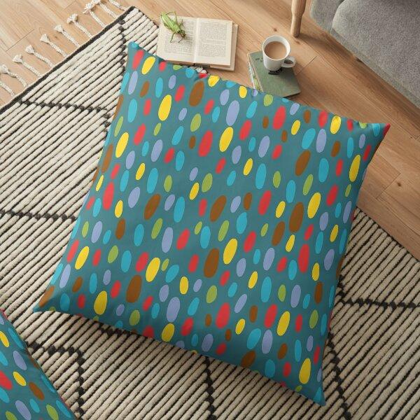 Crazy Coloured Pebble Pattern Floor Pillow