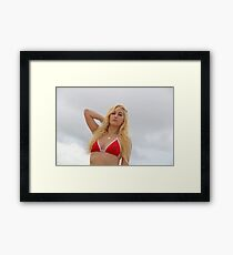GTA V beach girl Framed Print