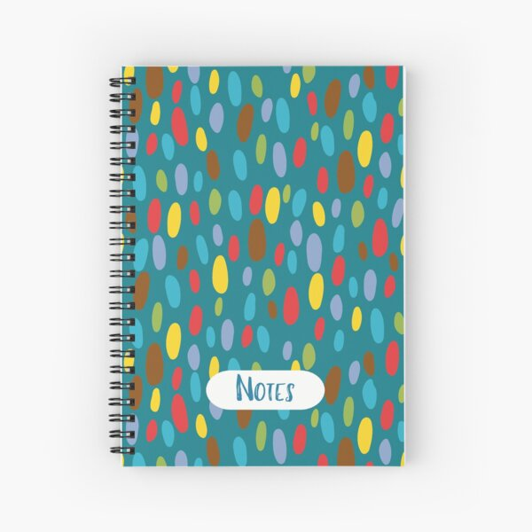 Crazy Coloured Pebble Pattern Notebook Spiral Notebook