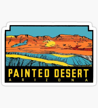 Painted Desert Arizona Vintage Travel Decal Sticker