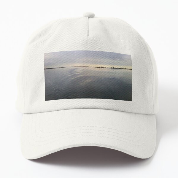 Motionless Water After Sunset Dad Hat