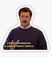 Ron Swanson Sticker Sticker