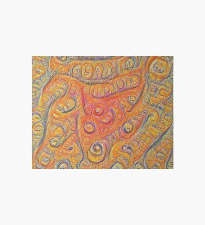Orange #DeepDream Art Board Print