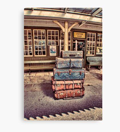 Left Lugage Canvas Print