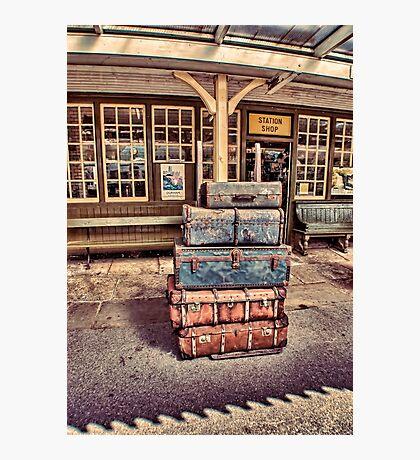 Left Lugage Photographic Print