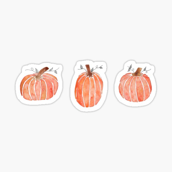 Mini Watercolor Pumpkins Sticker