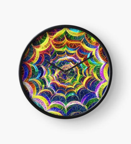 Spider web #DeepDream B Clock