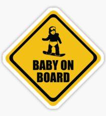 Snowboarding Baby on Board Sticker