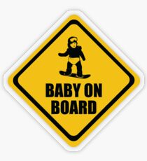 Snowboarding Baby on Board Transparent Sticker