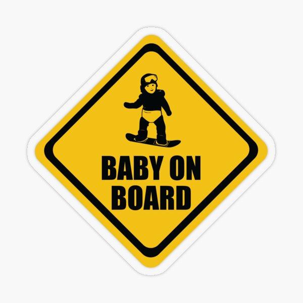 Snowboarding Baby on Board Transparent Sticker