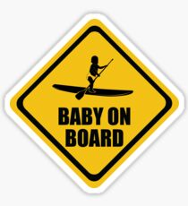 Stand Up Paddleboard SUP Baby on Board Sticker