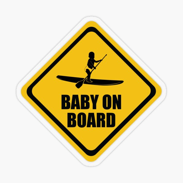 Stand Up Paddleboard SUP Baby on Board Transparent Sticker