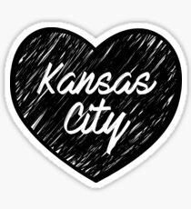I Love Kansas City - I Heart KC (Cursive) Sticker