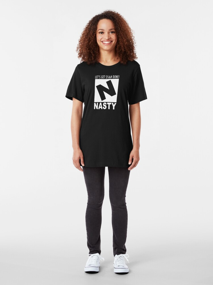 Alternate view of Nasty Rating Slim Fit T-Shirt