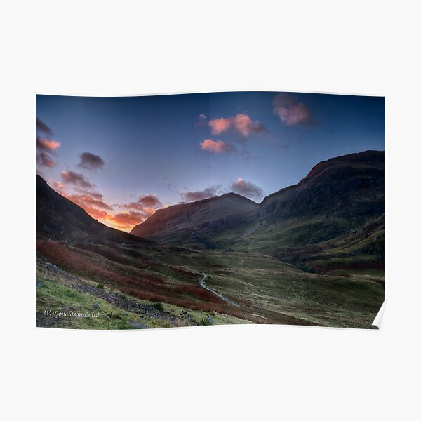 Dawn Light in Glencoe Poster