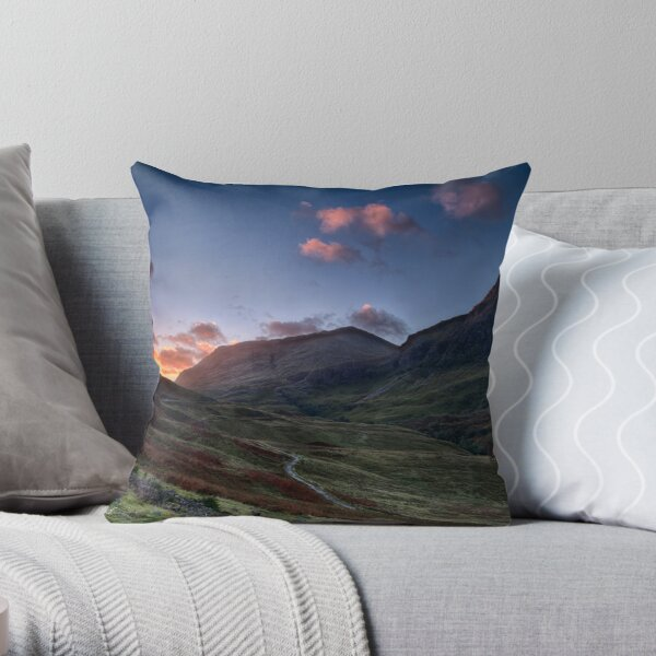 Dawn Light in Glencoe Throw Pillow