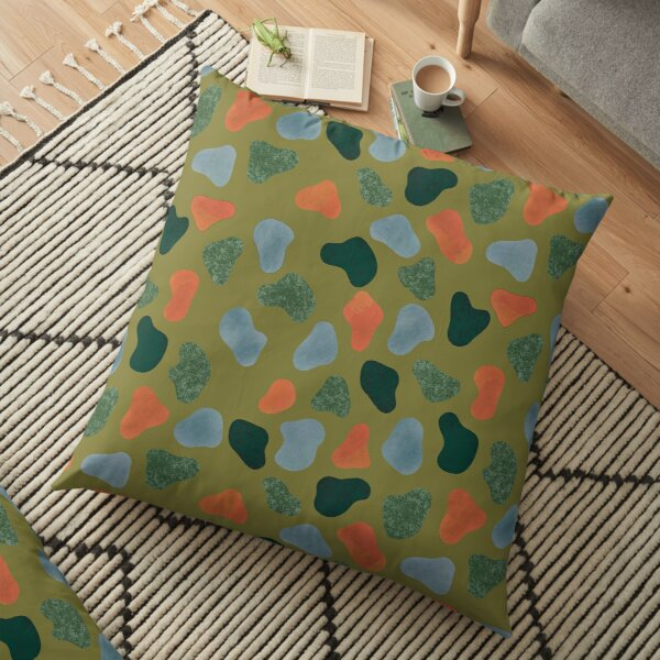 Rocks and Earth Pattern Floor Pillow