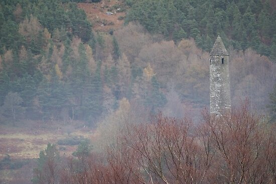 Glendalough Bell Tower by DES PALMER