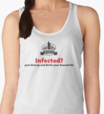 Infected? Dark Text Women's Tank Top