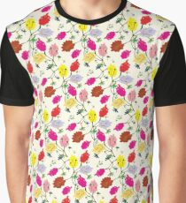 Persian Paper Pattern - Cream Floral Graphic T-Shirt
