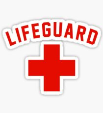Lifeguard White Gray Black Swimming Pool Sticker