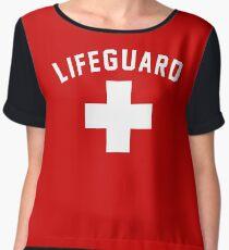 Lifeguard Red Swimming Pool Chiffon Top
