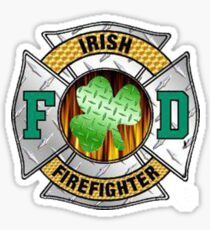 Malteese Cross IRISH Firefigter Sticker