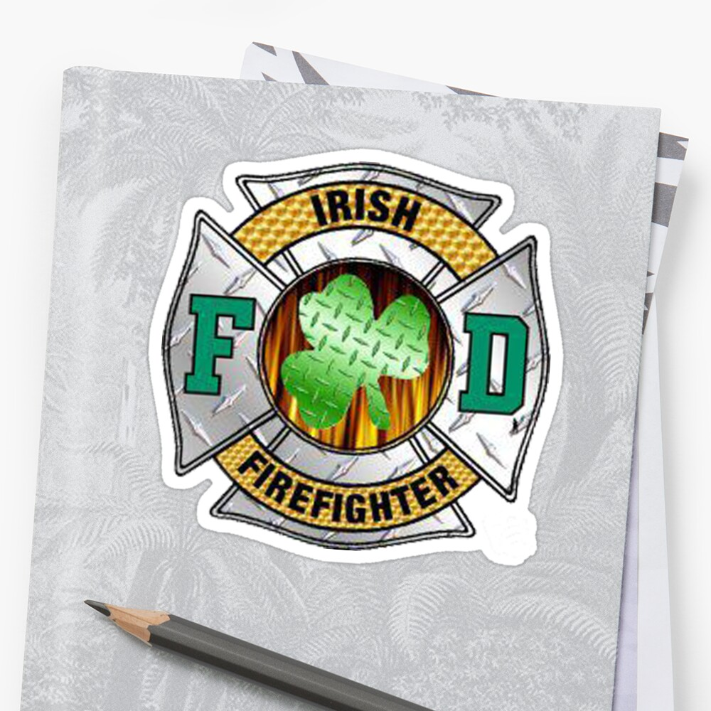 Malteese Cross IRISH Firefigter by thatstickerguy