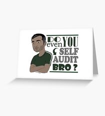 Do You Even Self-Audit Bro Gary Vee Sticker Greeting Card