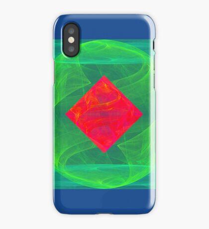 Antiquarian Pulsar infrared #fractal art iPhone Case