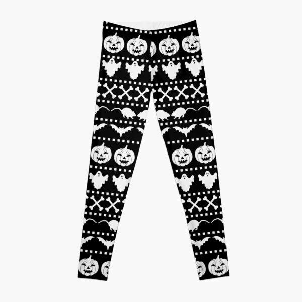 Halloween Ugly Sweater Pattern Leggings