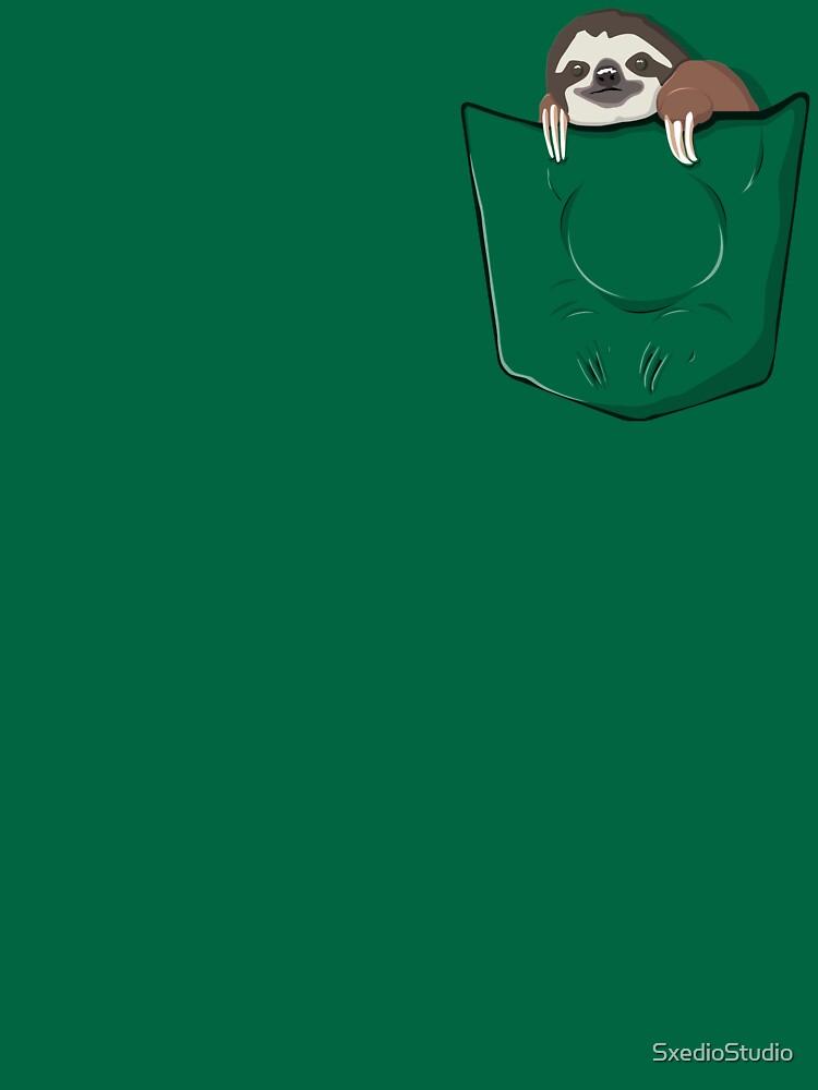 Sloth in a pocket by SxedioStudio