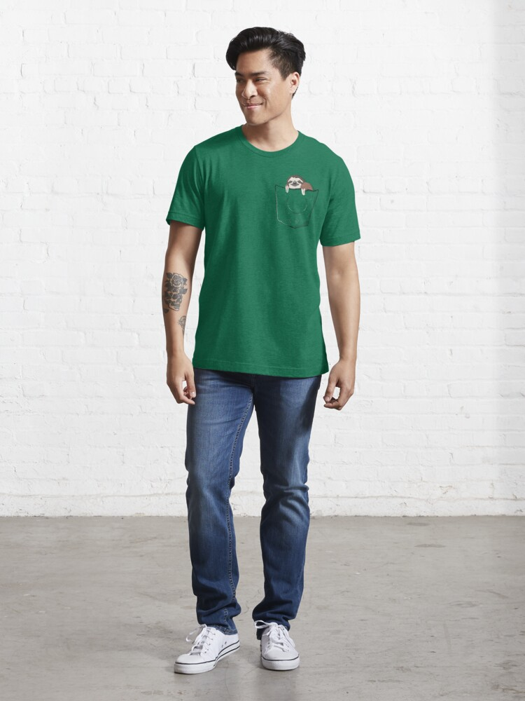 Alternate view of Sloth in a pocket Essential T-Shirt