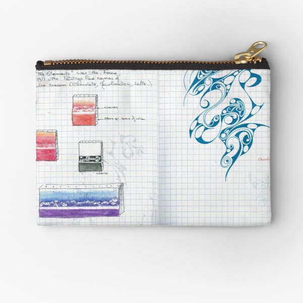 A page of my doodly visual journal Zipper Pouch
