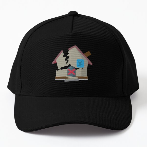 Haunted House Derelict House Building Abandoned House Old House Baseball Cap