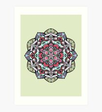 Flowers mandala #38 Art Print