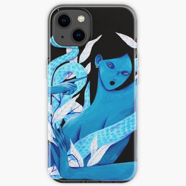 Acrylic Blue iPhone Soft Case