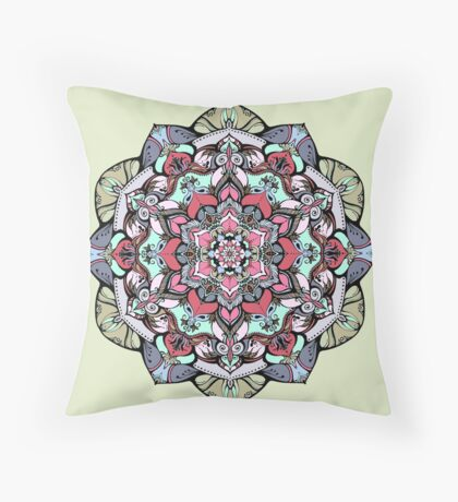 Flowers mandala #38 Throw Pillow
