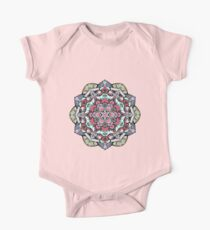 Flowers mandala #38 One Piece - Short Sleeve