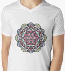 Flowers mandala #38 Men's V-Neck T-Shirt