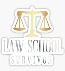 Law School Survivor - Humor Law School Grad Sticker